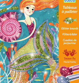 Djeco Glitter Boards, Mermaids, Set of 4 Boards