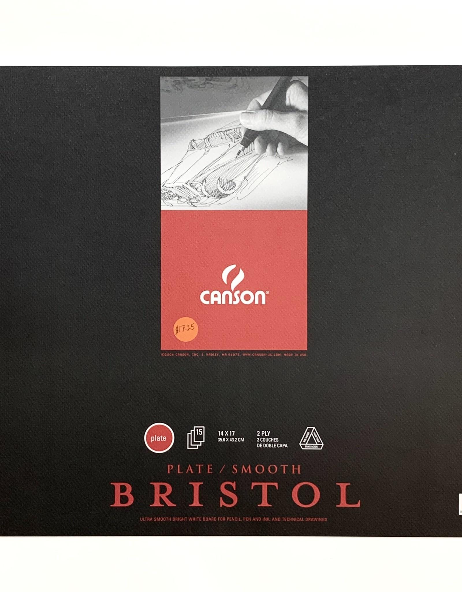 "Canson Bristol Smooth, 15 Sheet Pad, 14"" x 17"" 2ply"
