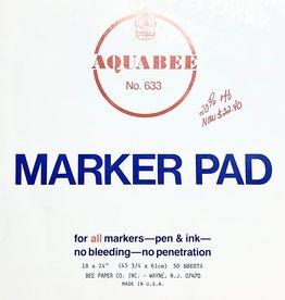 """Aquabee No. 633, Marker Pad, 50 Sheets, 18"""" x 24"""""""