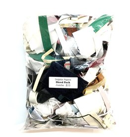 "Dolphin Papers Paper Shred Pack, Jumbo Approx 9"" x 12"" 16oz"
