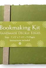 "Bookmaking Kit, 7.5"" x 7.5"", 72 Moss Green Pages"
