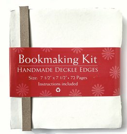 "Bookmaking Kit, 7.5"" x 7.5"", 72 Ivory Pages"