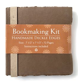 "Bookmaking Kit, 7.5"" x 7.5"", 72 Cocoa Pages"