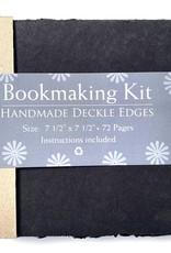 "Bookmaking Kit, 7.5"" x 7.5"", 72 Black Pages"