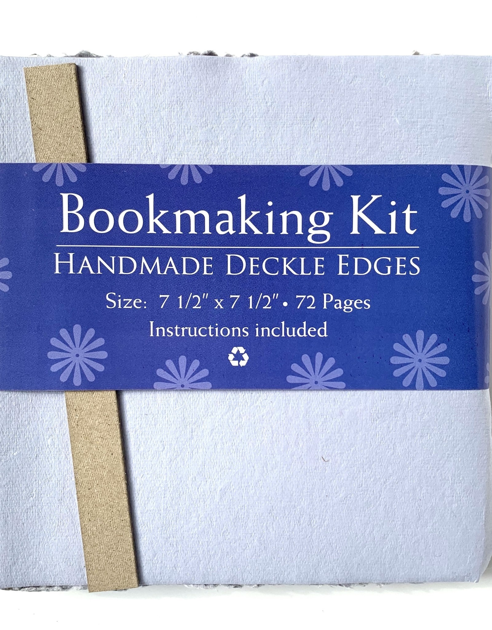 """Bookmaking Kit, 7.5"""" x 7.5"""", 72 Blue Purple Pages"""