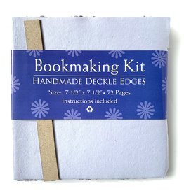 "Bookmaking Kit, 7.5"" x 7.5"", 72 Blue Purple Pages"
