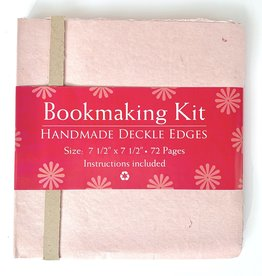 "Bookmaking Kit, 7.5"" x 7.5"", 72 Pink Pages"