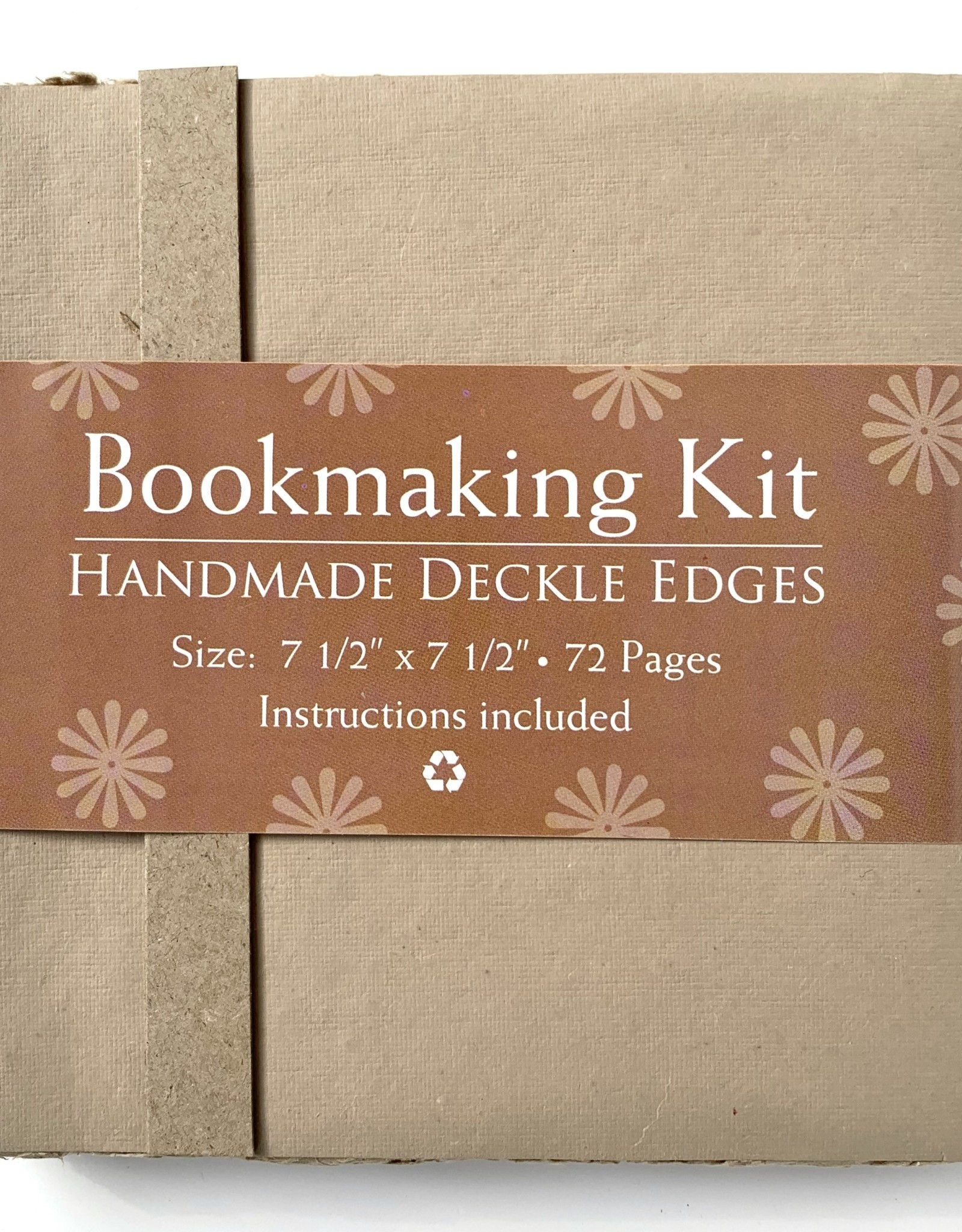 "Bookmaking Kit, 7.5"" x 7.5"", 72 Tan Pages"