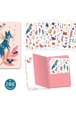 "Djeco Sticker Notebook with 146 Stickers, Lucille Design, 4.3"" x 6.1"""