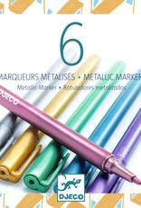 Djeco Metallic Markers, 6 Pack