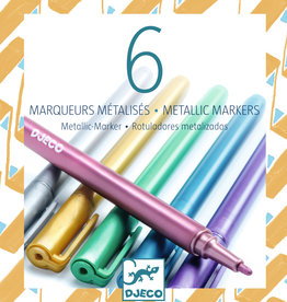 Djeco Metallic Markers, 6 Pack