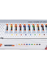 Cobra Study Water Mixable Oil Color, Primary and Secondary Mixing Set of 10 Tubes, 40ml