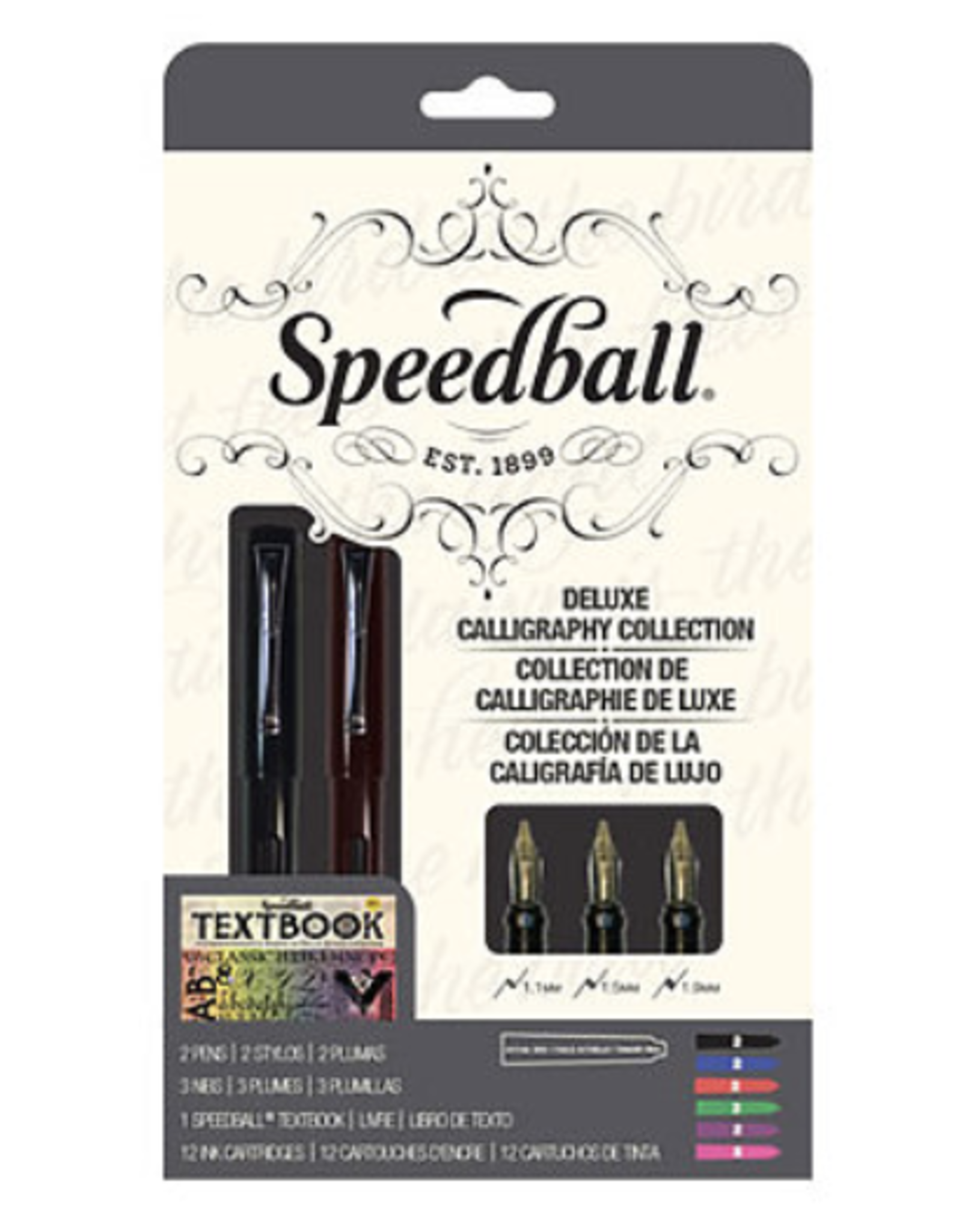 Speedball, Calligraphy Fountain Pen Master Set, 18 Piece Set