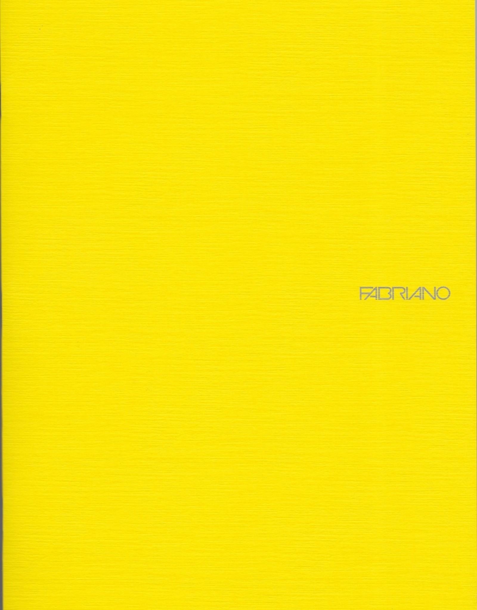 "Fabriano EcoQua Blank Notebook, Lemon, 8.25"" x 11.5"" 40 Sheets"