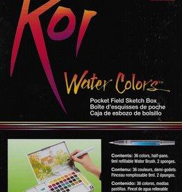 Sakura Koi Watercolors Pocket Field Sketch Box Set, 36 Colors