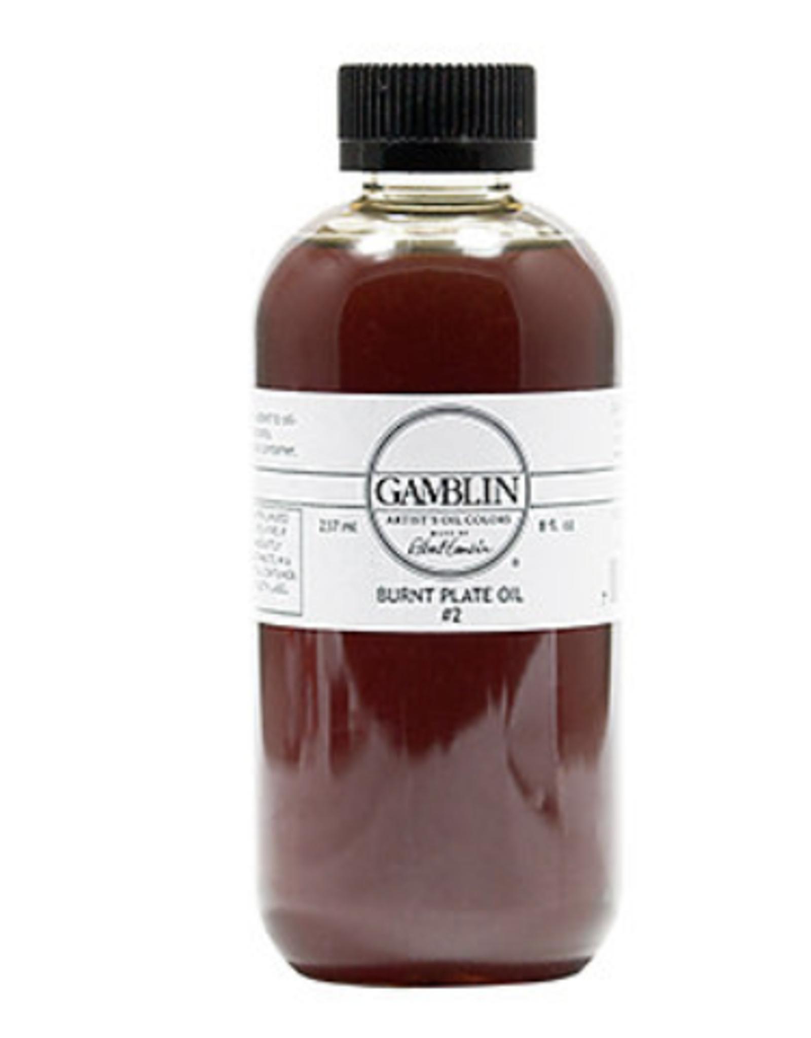 Gamblin, Burnt Plate Oil #2 8.5oz