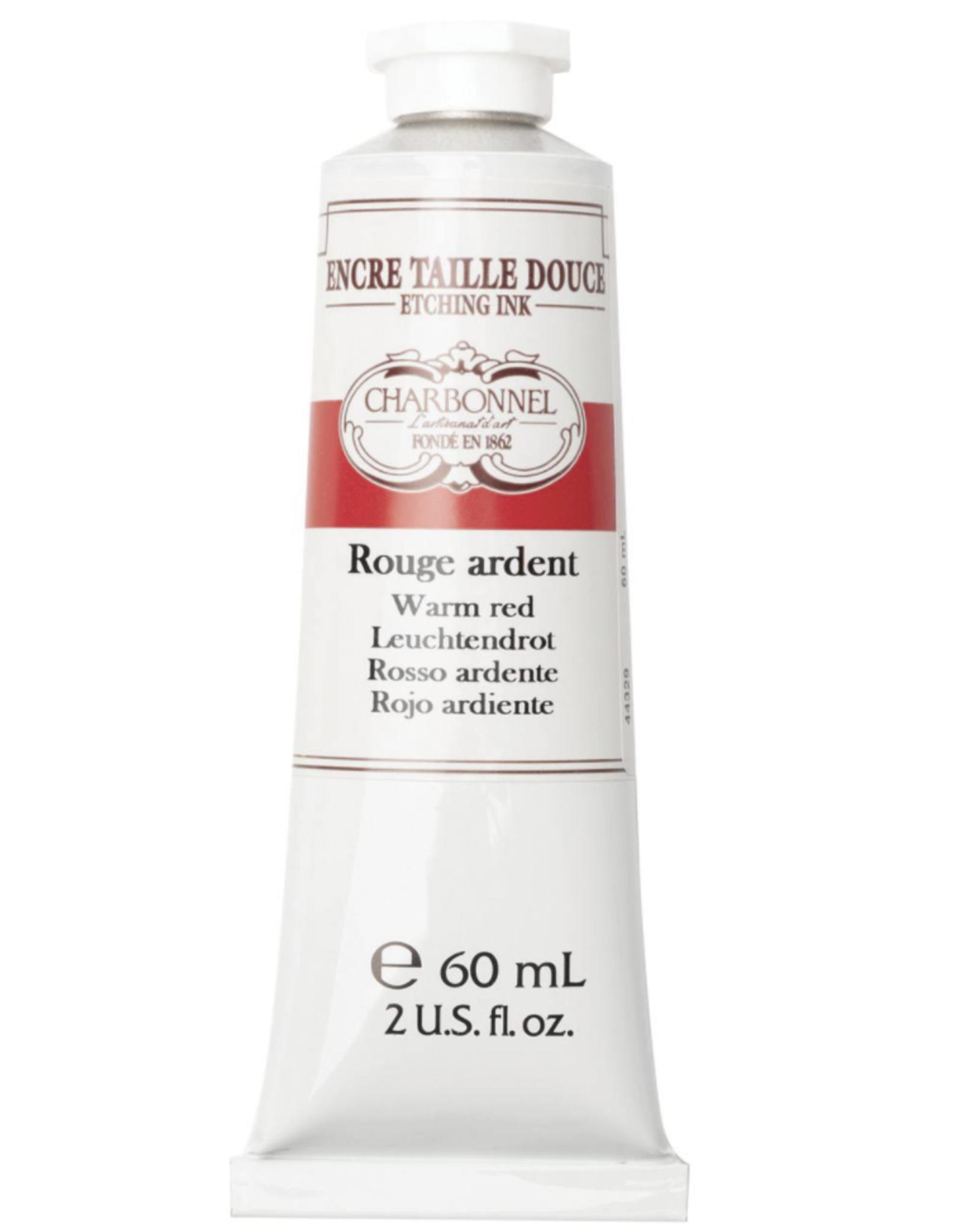 Charbonnel, Etching Ink, Warm Red, Series 5, 60ml, Tube