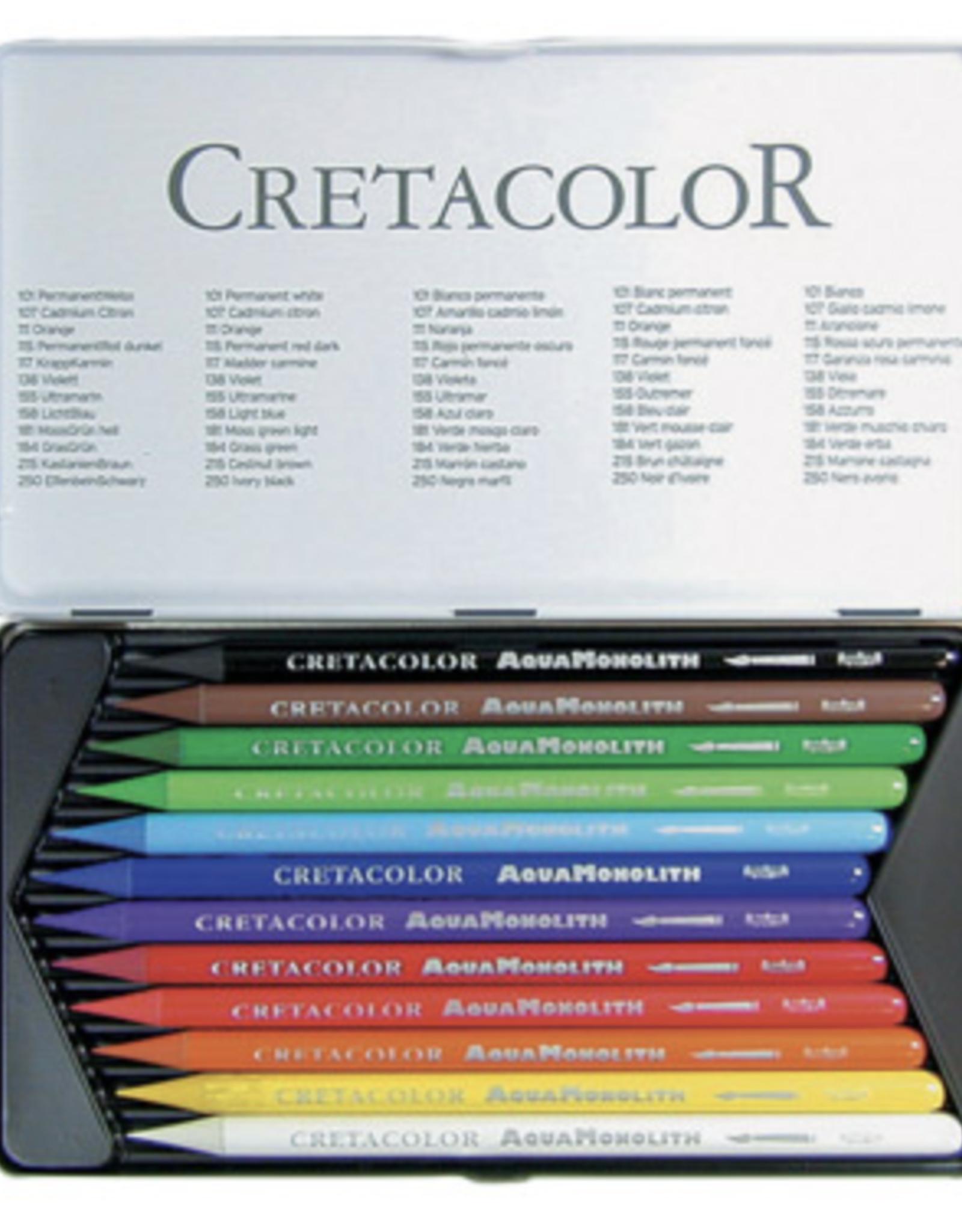 Cretacolor, Aqua Monolith Pencil, Metal Tin Set of 12