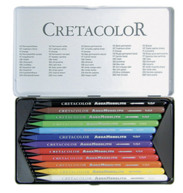 Cretacolor, Aqua Monolith Pencil, Metal Tin Set of 12