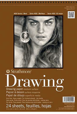"""Strathmore, Drawing Pad, 400 Series, 80#, 130gsm 18"""" x 24"""", 24 sheets"""