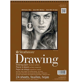 "Strathmore, Drawing Pad, 400 Series, 80#, 130gsm 18"" x 24"", 24 sheets"