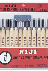 Niji Wood Carving Set of 12 Knives
