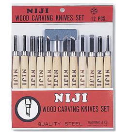 Niji Wood Carving Set of 12 Knives