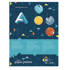 "Disposable Paper Palette, White, 9"" x 12"""