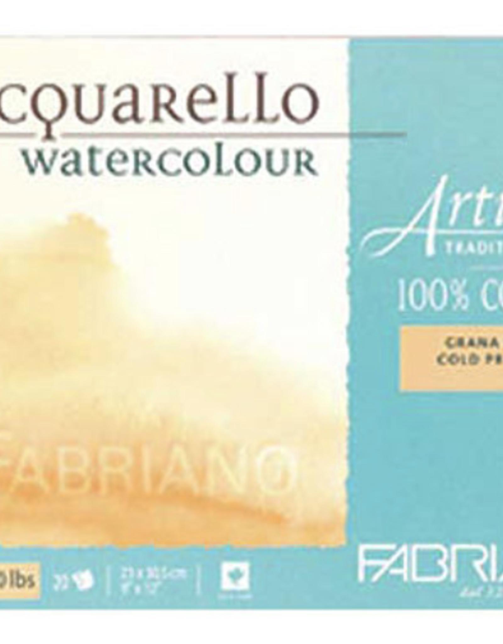 "Fabriano Artistico Hot Press, Traditional White Block 5"" x 7"", 300gsm, 25 Sheets"