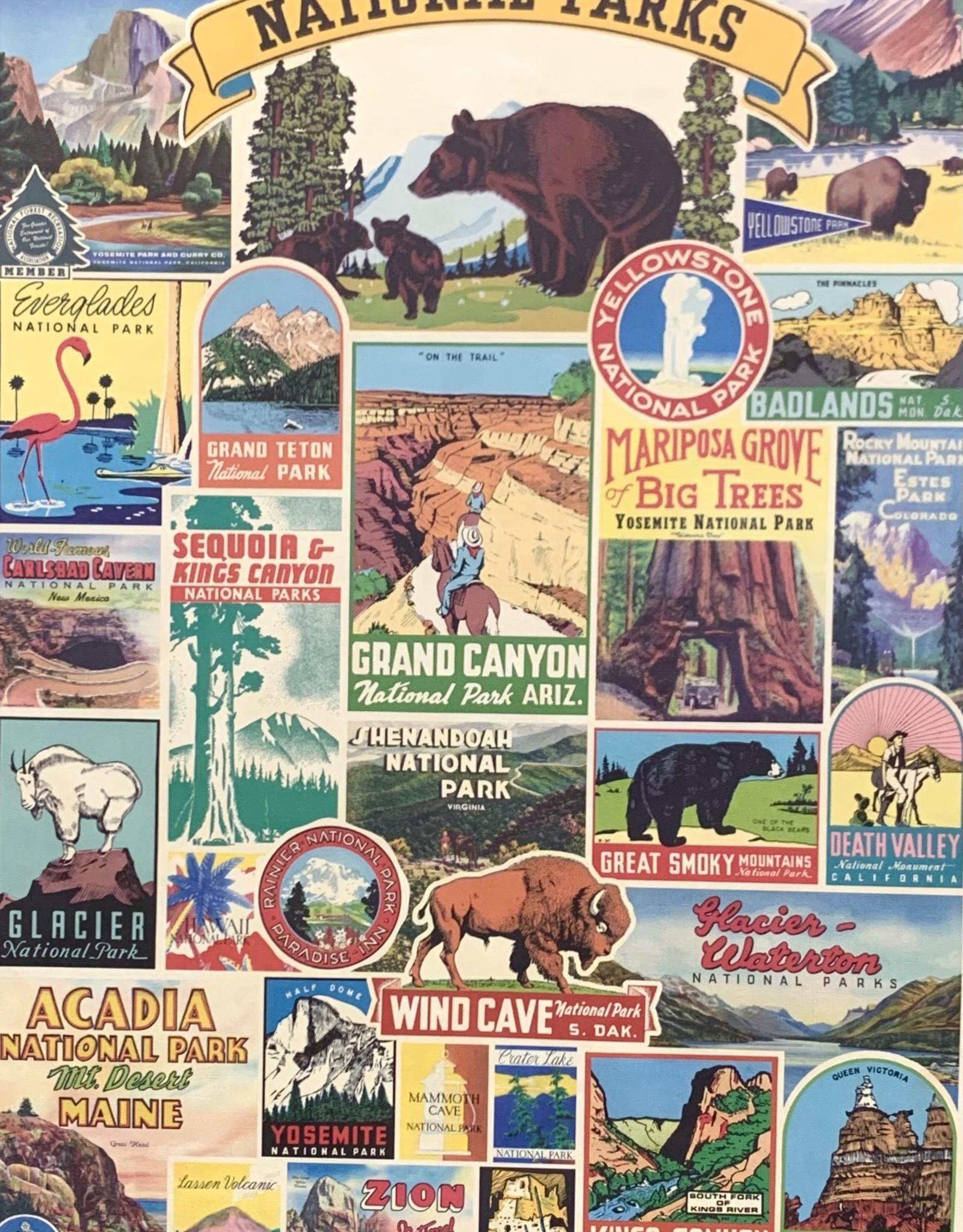 "Cavallini National Parks, Cavallini Poster Print, 20"" x 28"""