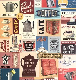 "Cavallini Coffee Collage, Cavallini Poster Print, 20"" x 28"""