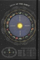 """Cavallini Zodiac, Cavallini Lined Notebook Journal, 6"""" x 8"""", 144 pages with Pocket"""