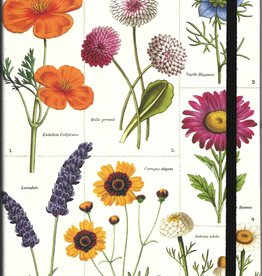 """Cavallini Wildflowers, Cavallini Lined Notebook Journal, 6"""" x 8"""", 144 pages with Pocket"""