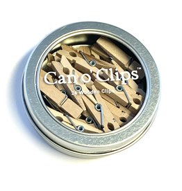 Can of Mini Clothespin Clips, 24 pieces