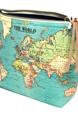 Cavallini Cavallini Vintage Inspired Pouch, World Map