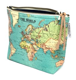 Cavallini Cavallini Vintage Inspired Pouch, World Map