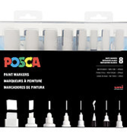 POSCA Paint Marker Set of 8 White Markers
