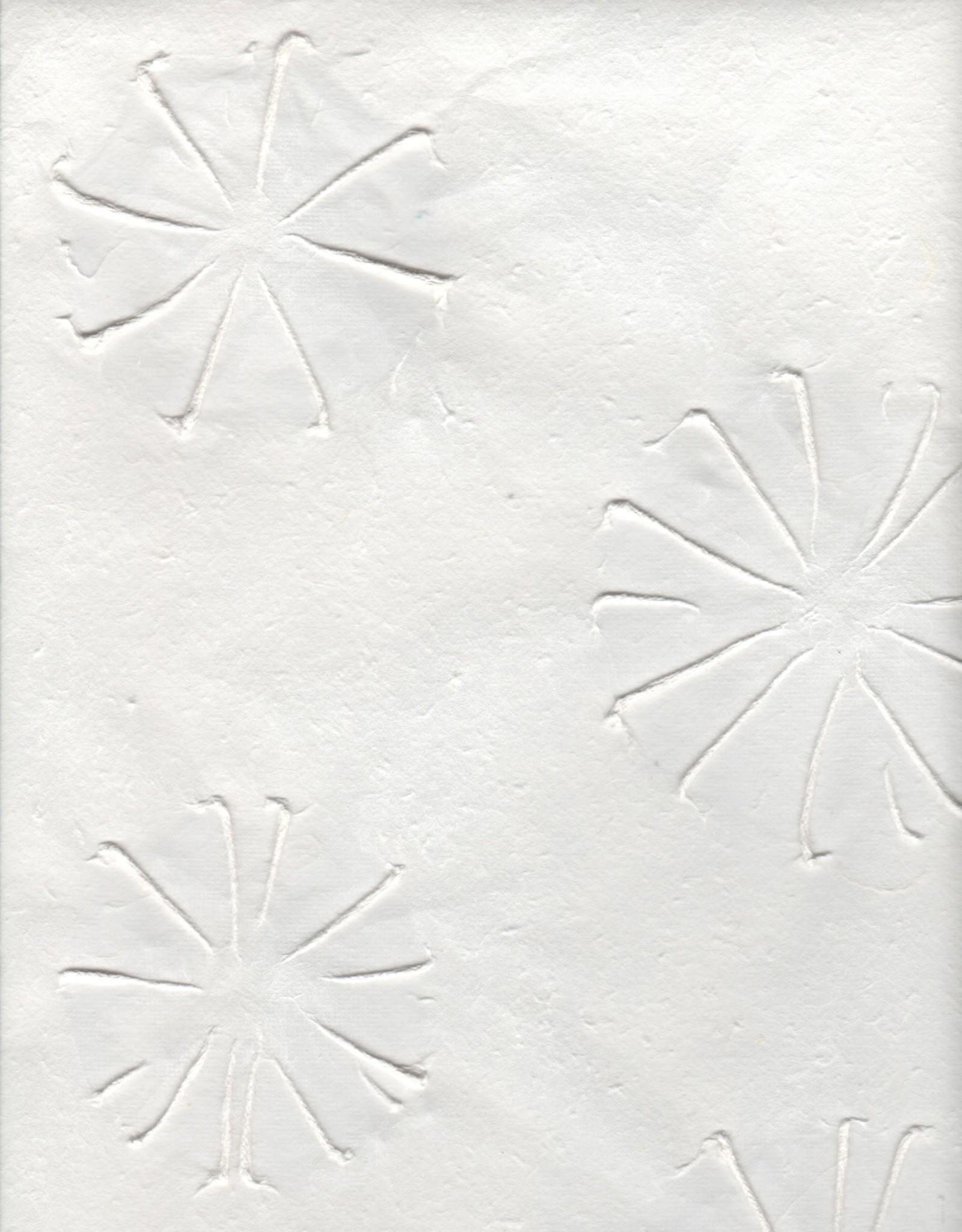 "Thai Embossed Urchins White, 25"" x 37"""