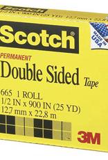 "#665 Scotch Double Sided Tape, 1/2"" x 36yds"