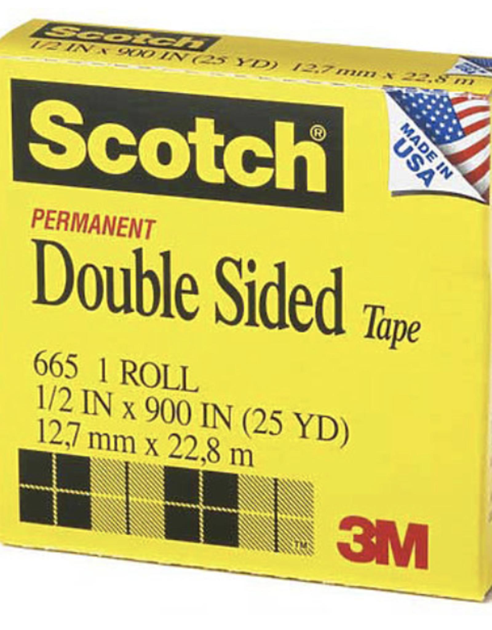 "#665 Scotch Double Sided Tape, 1"" x 36yds"