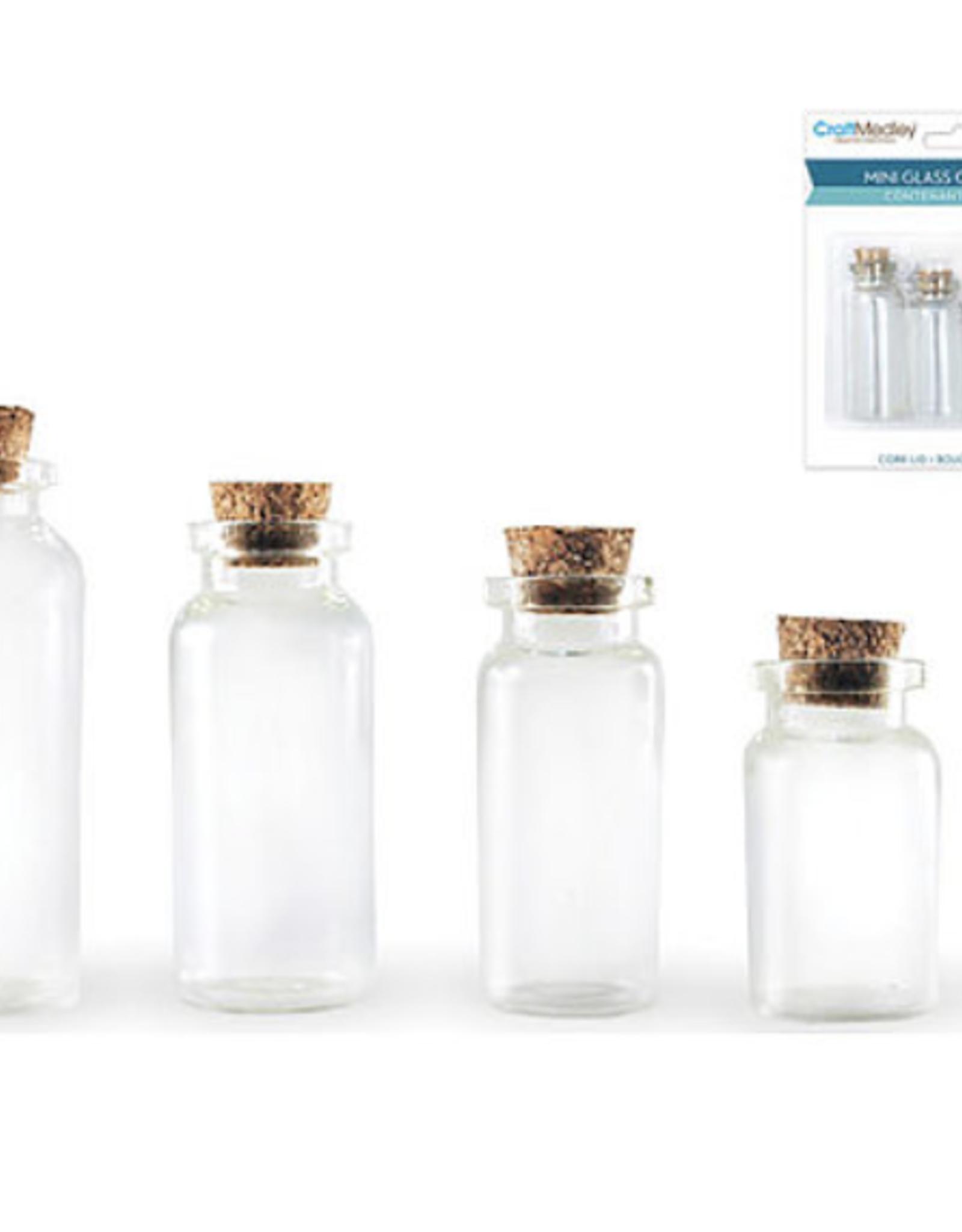 Glass Bottles, 4 Bottle Pack with 20ml, 15ml, 10ml, 7ml