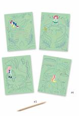 Djeco Fantasy Garden Scratch Art Cards