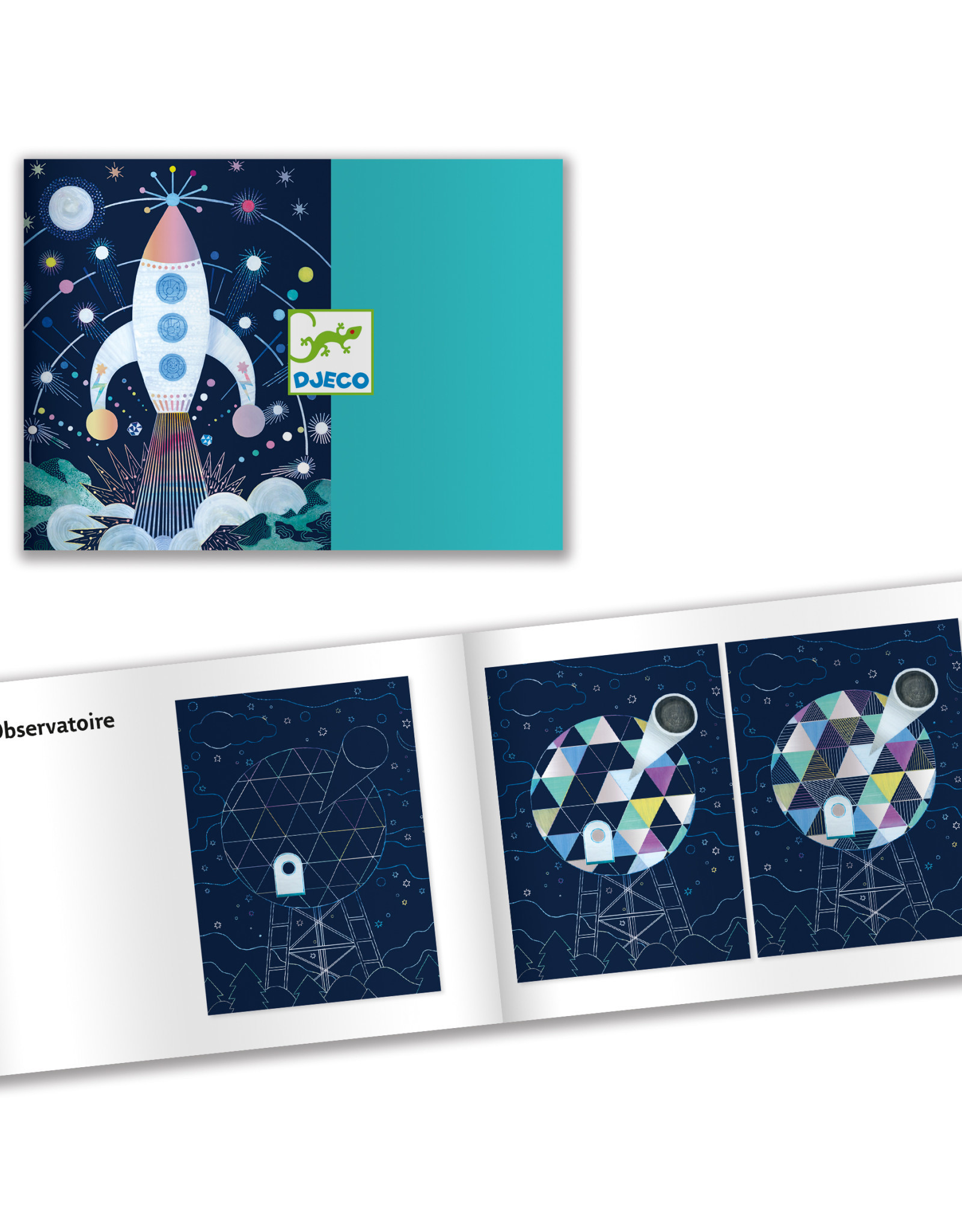 Djeco Cosmic Mission Scratch Art Cards