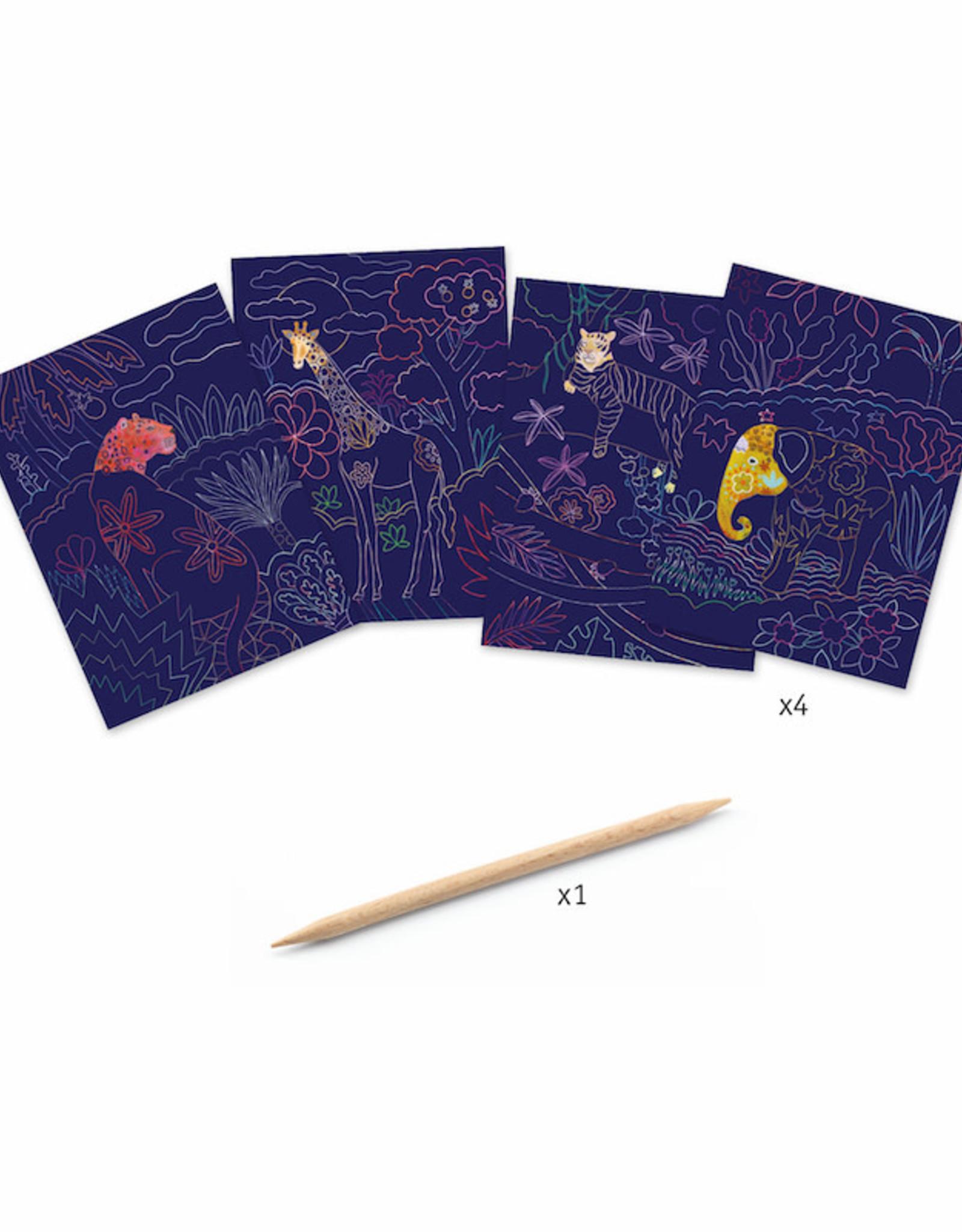 Djeco Lush Nature Scratch Art Cards