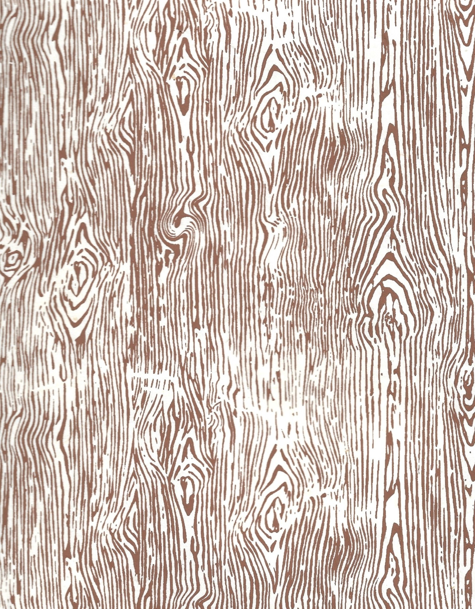 "Lokta Woodgrain Brown on Natural, 20"" x 30"""
