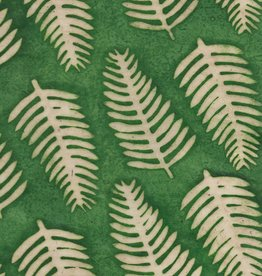 "Batik Ferns on Green, 20""x 30"""