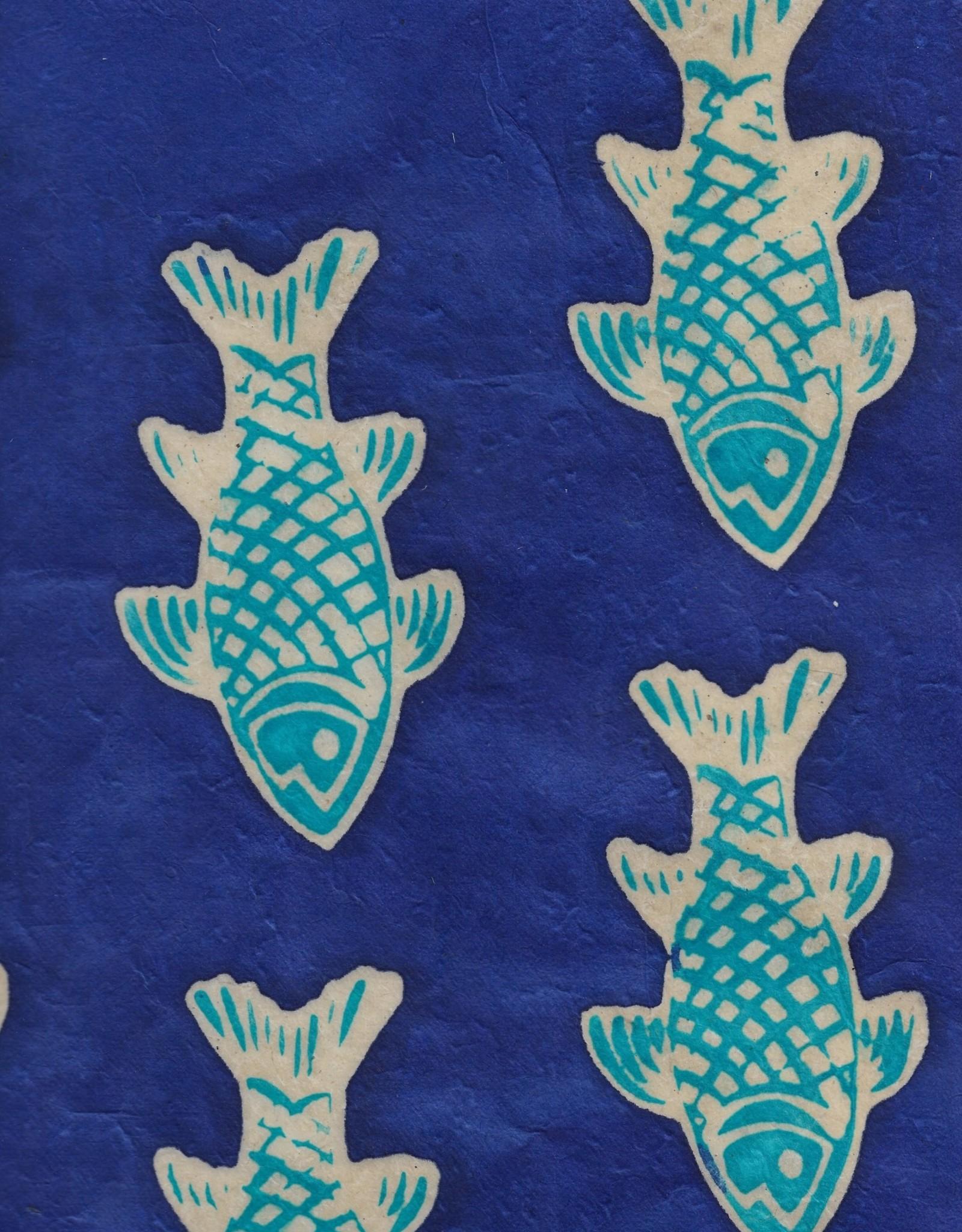 "Batik Fish on Violet, 20"" x 30"""