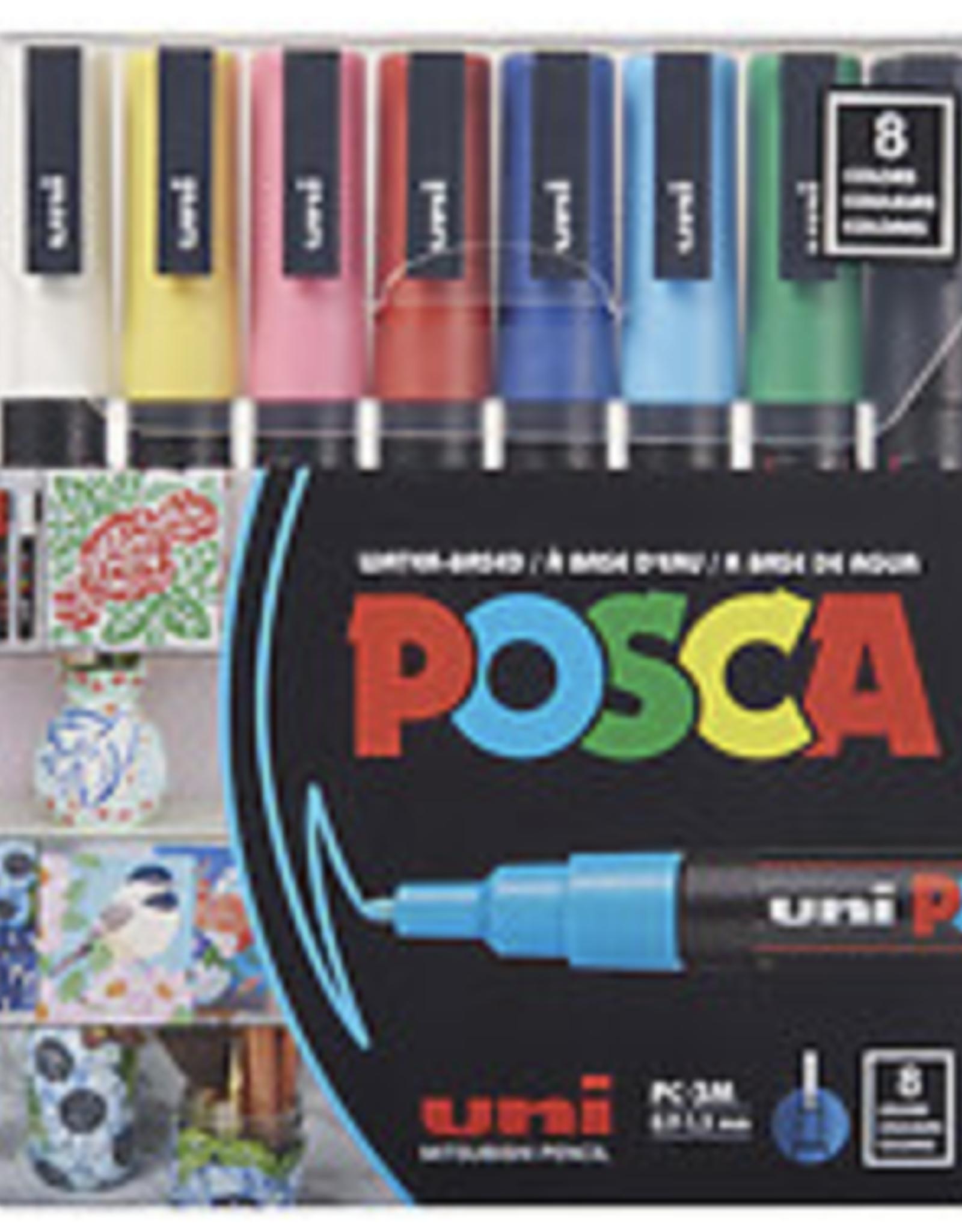 POSCA Paint Marker PC-3M Fine, 8-Color Set