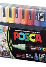 POSCA Paint Marker PC-5M Medium, 16 Color Set