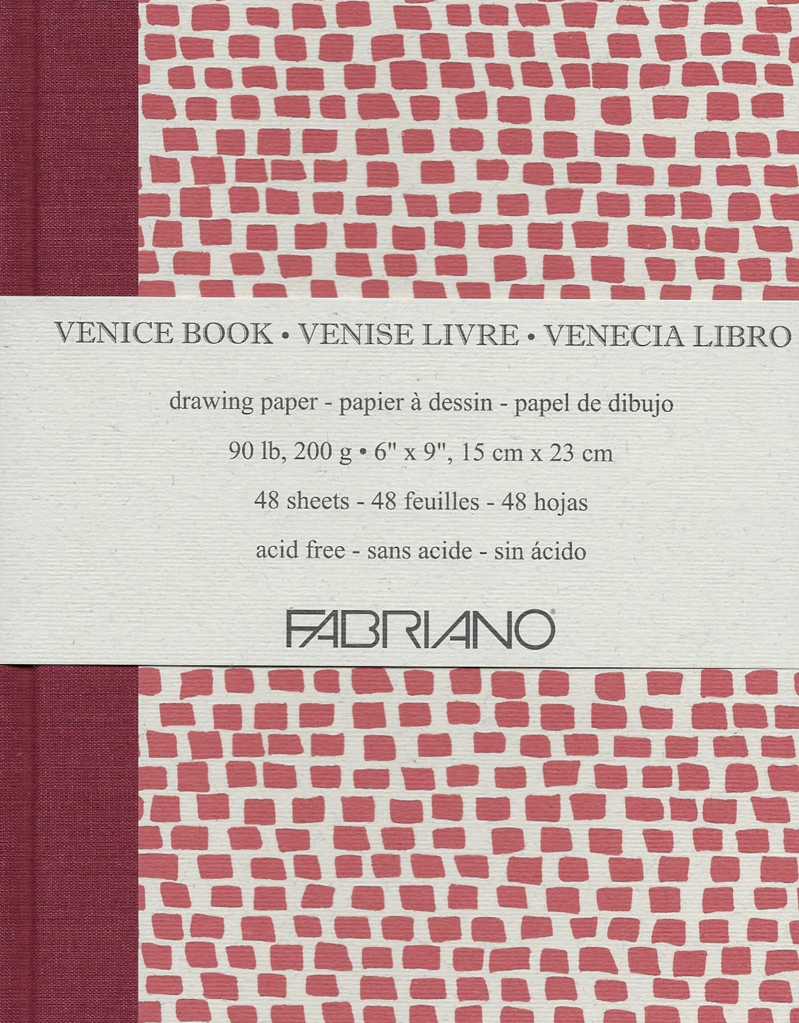 """Fabriano Venice Sketch Book, Drawing Paper, 48 sheets, 9"""" x 12"""", 90#/200gsm"""